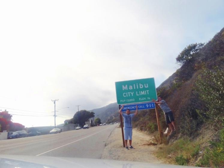 Chegamos à Malibu
