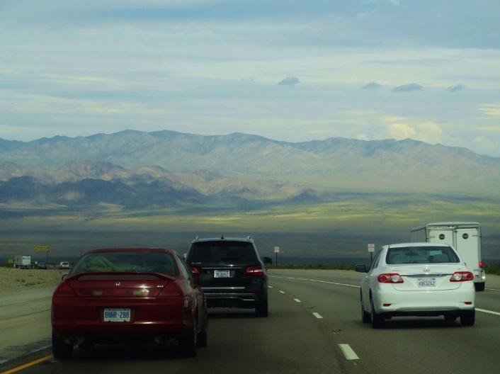 A incrível vista do deserto