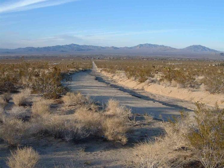 Fim do deserto de Mojave