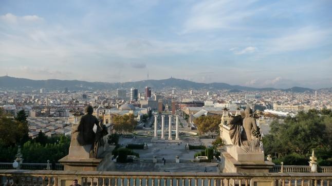 Vista do monte Montjuïc