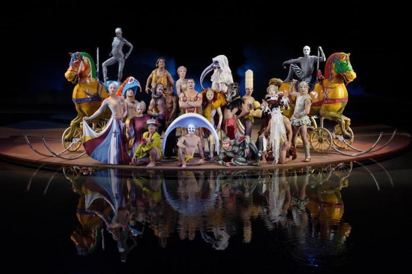 Um dos shows da companhia Cirque du Soleil.
