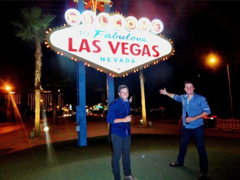 O famoso letreiro de Vegas.